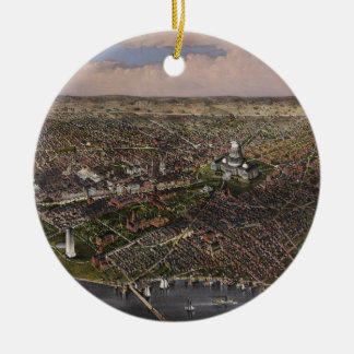 The City of Washington D.C. from 1880 Ceramic Ornament