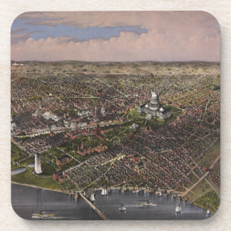 The City of Washington D.C. from 1880 Beverage Coaster