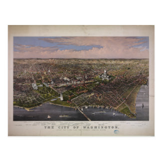 The City of Washington D C from 1880 Postcard
