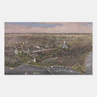 The City of Washington D.C. from 1880 Rectangular Sticker