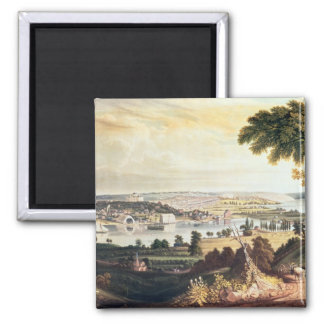 The City of Washington from beyond the Navy 2 Inch Square Magnet