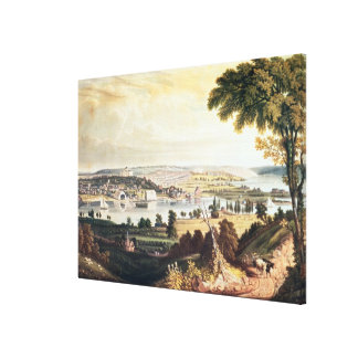 The City of Washington from beyond the Navy Canvas Print