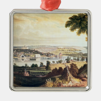 The City of Washington from beyond the Navy Metal Ornament