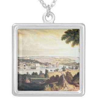 The City of Washington from beyond the Navy Silver Plated Necklace