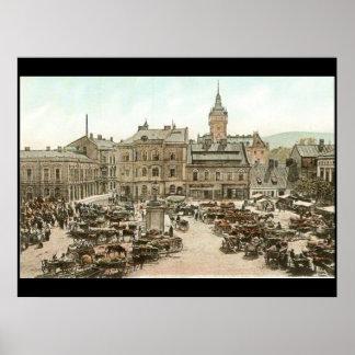 The City Square Vintage Tourist Poster
