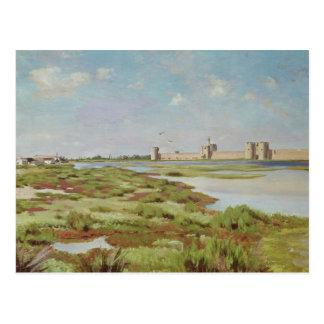 The City Walls of Aigues-Mortes, 1867 Postcard