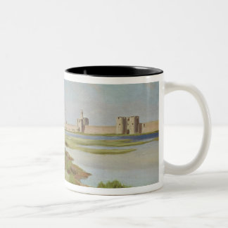 The City Walls of Aigues-Mortes, 1867 Two-Tone Coffee Mug
