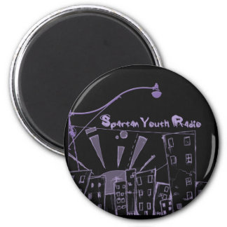 The City's Gone Purple SYR 2 Inch Round Magnet