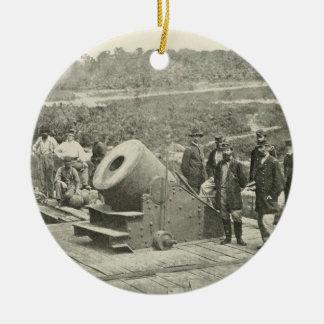 The Civil War Dictator Siege Mortar at Petersburg Ornaments