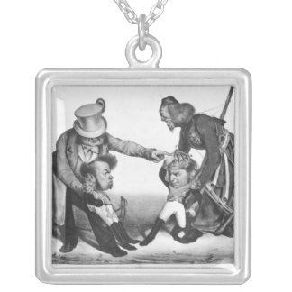 The Civil War in Portugal Silver Plated Necklace