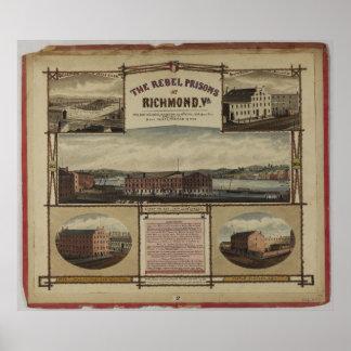The Civil War Rebel Prisons of Richmond Virginia Print