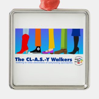 The CL-A.S.-Y Walkers Metal Ornament