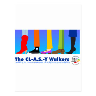 The CL-A.S.-Y Walkers Postcard