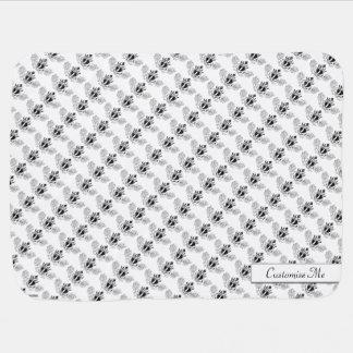 The Claddagh (Black) Baby Blanket