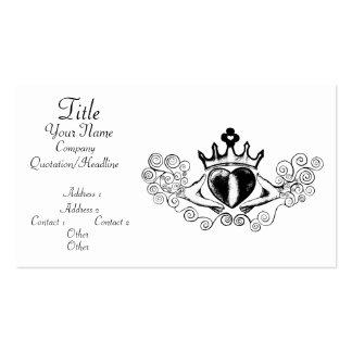 The Claddagh (Black) Business Card