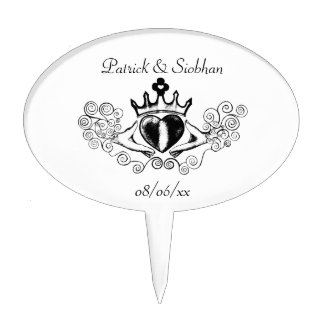 The Claddagh (Black) Cake Topper