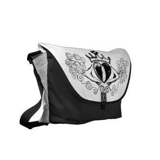 The Claddagh (Black) Courier Bag