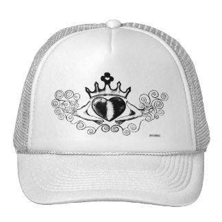 The Claddagh (Black) Trucker Hat