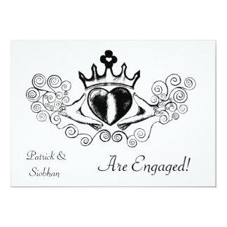 The Claddagh (Black) Invite