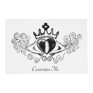 The Claddagh (Black) Placemat