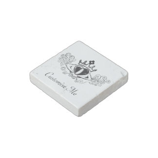 The Claddagh (Black) Stone Magnet