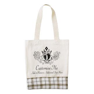 The Claddagh (Black) Zazzle HEART Tote Bag