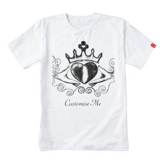 The Claddagh (Black) Zazzle HEART T-Shirt