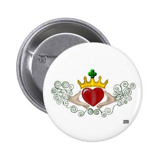 The Claddagh (Full Colour) Button