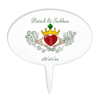 The Claddagh (Full Colour) Cake Topper