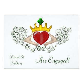 The Claddagh (Full Colour) Personalized Invitations