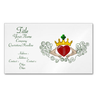 The Claddagh (Full Colour) Magnetic Business Card