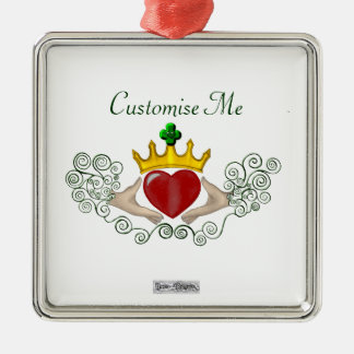 The Claddagh (Full Colour) Metal Ornament