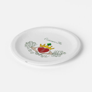 The Claddagh (Full Colour) Paper Plate
