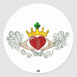 The Claddagh Full Colour Stickers