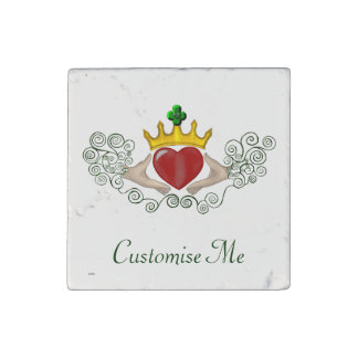 The Claddagh (Full Colour) Stone Magnet