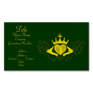 The Claddagh (Gold) Business Card Magnet