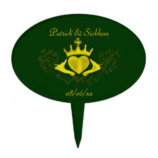 The Claddagh (Gold) Cake Topper