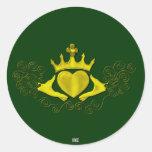 The Claddagh (Gold) Classic Round Sticker