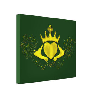The Claddagh (Gold) Gallery Wrap Canvas