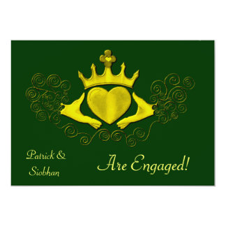 The Claddagh (Gold) Personalized Invites