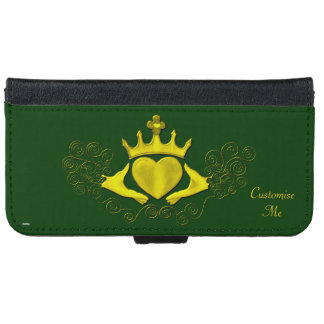 The Claddagh (Gold) iPhone 6 Wallet Case