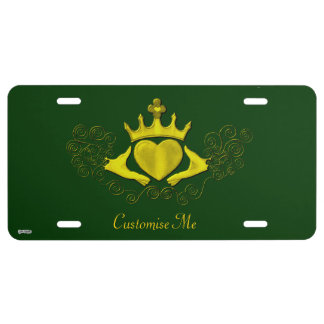 The Claddagh (Gold) License Plate