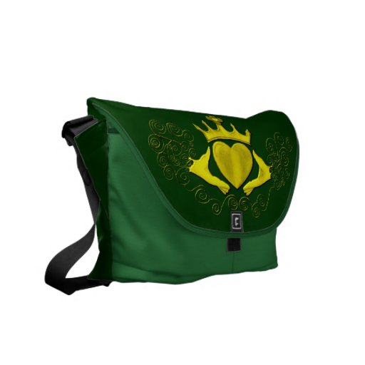 The Claddagh (Gold) Messenger Bag