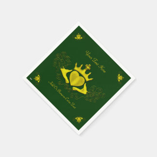 The Claddagh (Gold) Paper Napkins