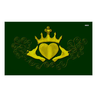 The Claddagh (Gold) Poster