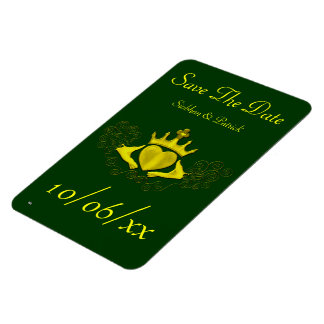 The Claddagh (Gold) (Save the Date) Rectangular Magnet