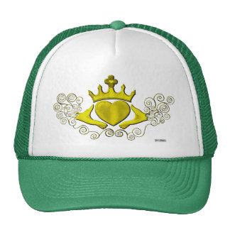 The Claddagh (Gold) Trucker Hat