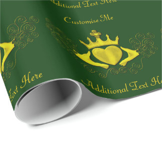 The Claddagh (Gold) Wrapping Paper