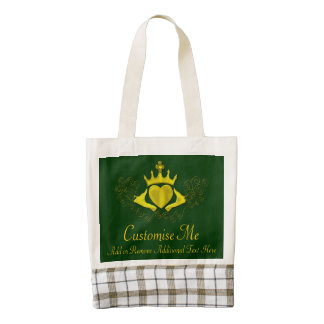 The Claddagh (Gold) Zazzle HEART Tote Bag