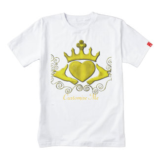 The Claddagh (Gold) Zazzle HEART T-Shirt